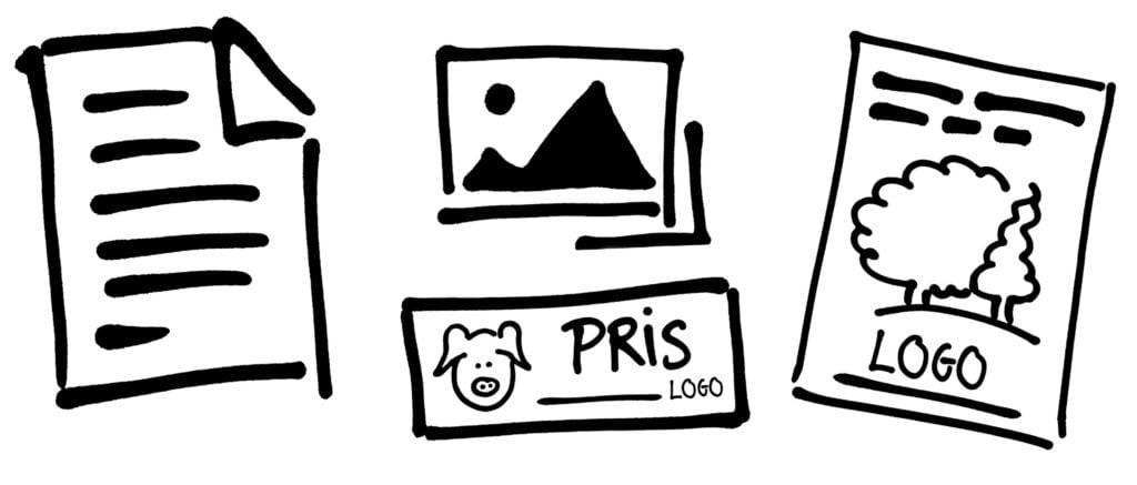 Grafisk design process - Word, billeder og annonce filer